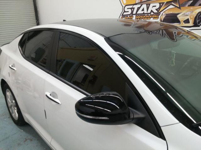 Hood Wrap Roof Wrap Trunk Wrap Gloss Black Wrap Star Car Wraps